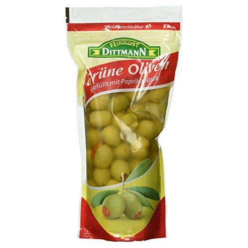 Feinkost Dittmann Oliven gefüllt mit Paprikapaste, 450g