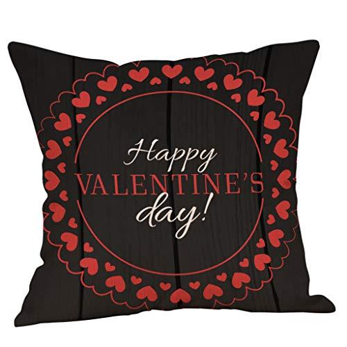 Kussensloop, Valentijnsdag kussensloop sierkussenslopen hoofdkussenovertrek Valentijnsdag decoratie Pillowcase print super zacht sofakussen voor woonkamer sofa bed huishouden modern 45x45cm(18x18 zoll) G