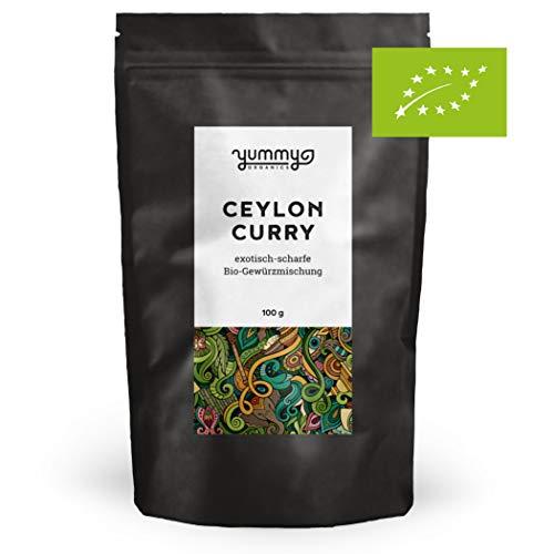 Ceylon Curry Gewürzmischung 100g Beutel | mittelscharfes Currypulver, von Hand gemischt | ohne Salz & Zucker | Currygewürz für Sri Lankische Küche