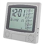 Socobeta Azan Reloj de oración Temporizador Digital Reloj de Mesa Automático Azan Mesa de Escritorio para el Hogar Dormitorio Salón Decoración