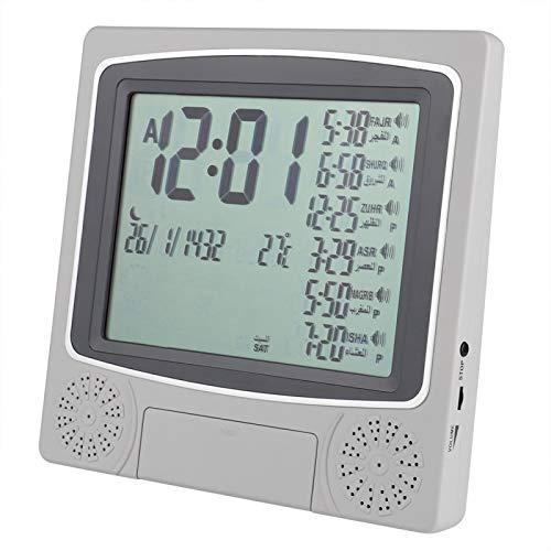 Azan Clock Prayer Times Table Clock Muslim Digital Alarm for Home Bedroom Living Room Decoration