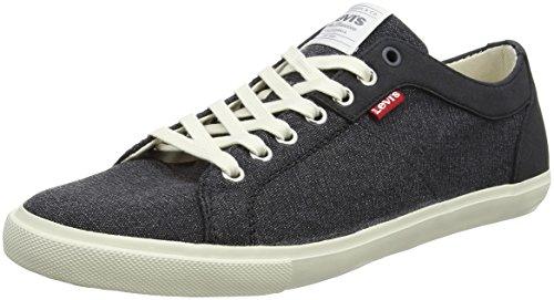 Levi's Herren Woods Sneaker, Schwarz (Noir Regular Black), 42 EU