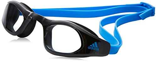 adidas Erwachsene Persistar Race Schwimmbrille, Smoke Lenses/Bright Blue, M