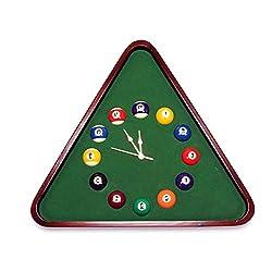 Billiards Clock,Wall Clock,Mute Quartz Clock,Wobble Billiards Pattern Wall-Mounted Pocket Watch/Wine red / 48x54cm
