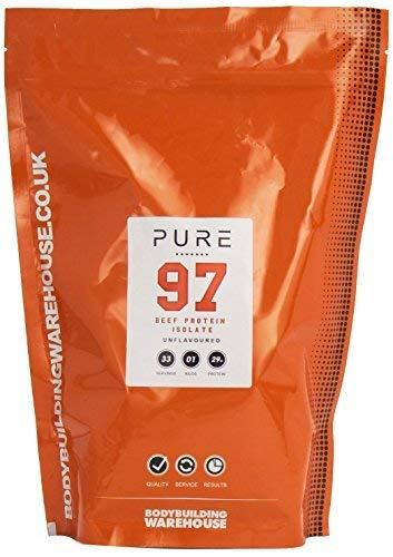 Bodybuilding Warehouse Pure Beef Protein Powder Paleo - 29g Protein Per Serving - Unflavoured 1kg