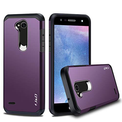 JundD Kompatibel für LG X Power 2 Hülle, [ArmorBox] [Doppelschicht] [Heavy-Duty-Schutz] Hybrid Stoßfest Schutzhülle für LG X Power 2 - [Nicht für LG X Power/LG X Power 3] - Violett