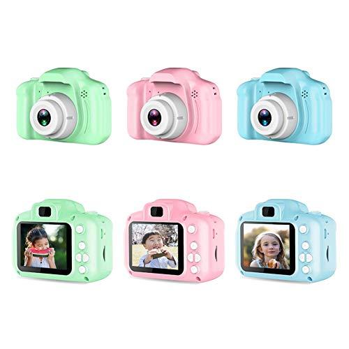 Cámara digital para niños con pantalla grande de 3,5 pulgadas, 1080P HD, 12 MP, tarjeta SD integrada de 32 GB, USB, recargable, para niños de 3 a 10 años de edad, juguete