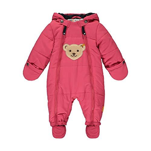 Steiff Baby-Unisex mit süßer Teddybärapplikation Schneeanzug, Carmine, 062
