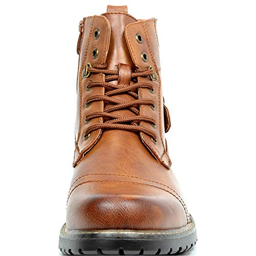 Bruno Marc Men's Military Combat Boots Philly-5 Brown Size 10.5 M US