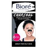 Bioré Charcoal, Deep Cleansing Pore Strips, Nose Strips for Blackhead Removal on Oily Skin, with...
