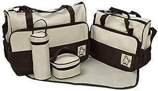 Lovlifer 5-in-1 Set Multi Function Baby Diaper Nappy Bag Mummy Babies Bags Changing Set Handbag GH8687 Coffee