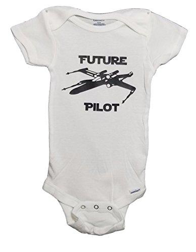 Mari Kyrios Creations Star Wars Rebel X Wing Future Pilot Onesie Resistance Fighter Baby Jumpsuit Pajamas & Bodysuit Romper PJ White