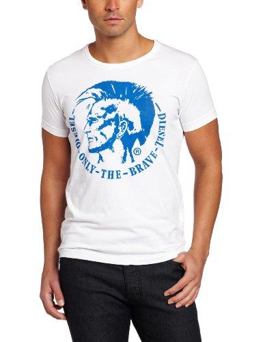 Diesel Camiseta Hombre S Blanco 00CWCS-00JTS
