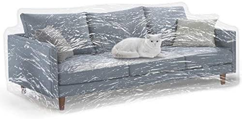 Best KEBE Clear Thicker Couch Cover for Pets, Heavy Duty Cat Scratch Sofa Cover for Protection Against Ca