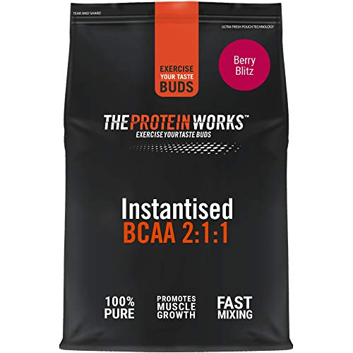 THE PROTEIN WORKS | Instantised BCAA Powder | Branched Chain Amino Acid Supplement | 2:1:1 Ratio | Aids Recovery & Muscle Building | Berry Blitz | 250 g