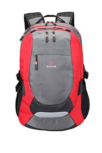 Ruigor Active 29 Rot - robuster Trekking Rucksack wasserabweisender Outdoor Rucksack 28l Laptop Tasche 15.6 Zoll