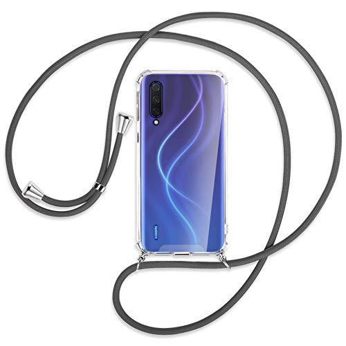 mtb more energy Collar Smartphone para Xiaomi Mi 9 Lite (6.39'') - Gris Oscuro - Funda Protectora ponible - Carcasa Anti Shock con Cuerda