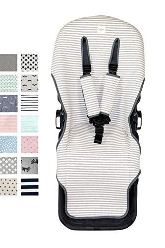 Fundas BCN ® - F126/0393 - Colchoneta para silla de paseo Bugaboo Donkey ® - Kodak Stripes