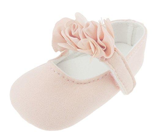 Pretty Baby Sandales d'été en mousseline de soie avec bordure rose pour bébé fille 0-3 mois Rose