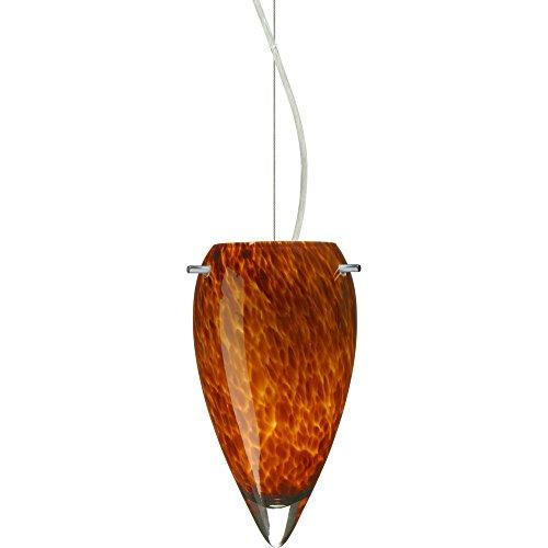Juli 1 Light Mini Pendant Shade Color: Amber Cloud, Bulb Type: Incandescent, Finish: Satin Nickel