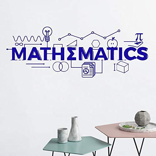 JXND Mathe Wandtattoo Mathematik Klassenzimmer Dekoration Schule Vinyl Aufkleber Geschenk Bildung Zeichen Wissenschaft inspirierende Poster DIY132x48cm