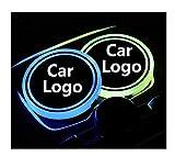 Meet's shop Portavasos para Coche 2X LED Logo Logo Light Lights...