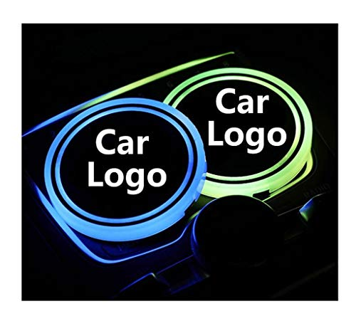 XDRE Posavasos de Coches 2X LED Logo Logo Light Lights Compatible con BMW E30 E34 E36 E46 F20 E87 E90 E60 E39 M Logo Logo Light LUMINO LUMINOUSOUS BEBIDOS TOTENCIAS Accesorios Portavasos