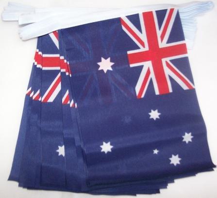 AZ FLAG Guirlande 6 mètres 20 Drapeaux Australie 21x15 cm - Drapeau Australien 15 x 21 cm