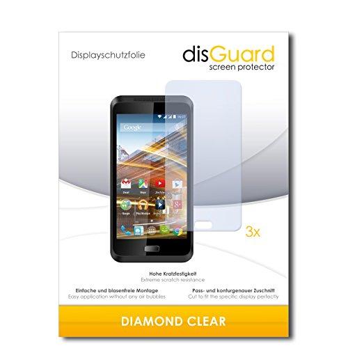 disGuard 3 x Schutzfolie Archos 45 Neon Bildschirmschutz Folie DiamondClear unsichtbar