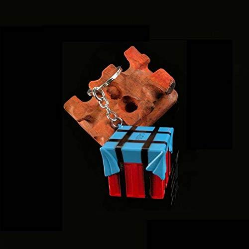 Feidiao Playerunknown's Battlegrounds Schlüsselbund Metallschild Emaille PUBG Airdrop-Box Schlüsselanhänger PUBG Schlüsselbund Telefon Zubehör (B)