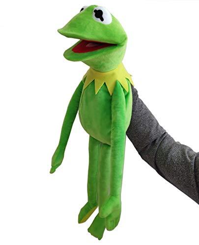 LUOWAN Kermit Frosch Puppen Plüschtier Bauchredner Muppet Show Puppe Weihnachtstag Kinder Bildungsgeschenk 60cm
