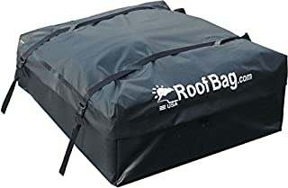 RoofBag Rooftop Cargo Carrier | Waterproof | Made in USA | 1 Year Warranty | for Cars with Side Rails, Cross Bars or Basket| Includes Heavy Duty Straps