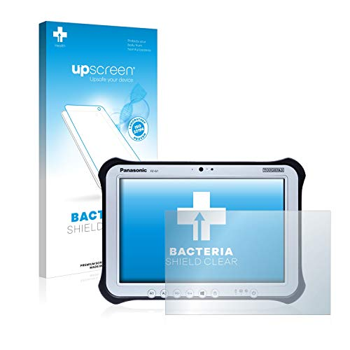 upscreen Antibakterielle Schutzfolie kompatibel mit Panasonic Toughbook G1 klare Bildschirmschutz-Folie