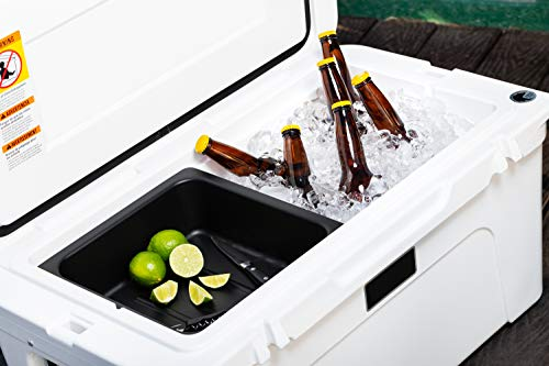 BEAST COOLER ACCESSORIES Removable Dry Goods and Storage Basket Tray Insert - Designed Specifically for YETI Tundra 50 & 65 Camping Cooler - Perfect for Holding Food, Utensils, and More