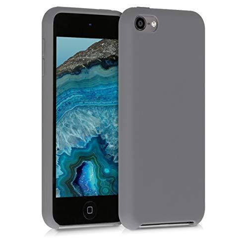 kwmobile Hülle kompatibel mit Apple iPod Touch 6G / 7G (6. und 7.Generation) - Silikon Schutzhülle gummiert - Cover Case in Titanium Grey