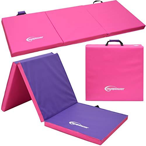EYEPOWER XL Gymnastikmatte 190x60x5cm Turnmatte Sportmatte Weichbodenmatte Pink