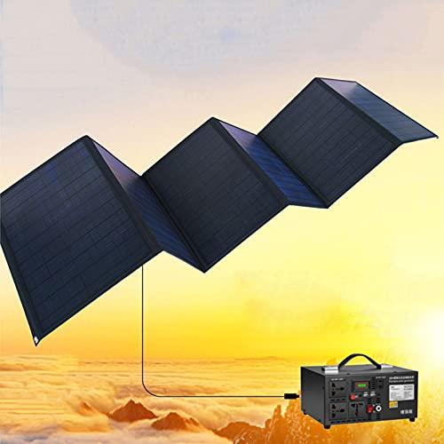 NUB Cargador Solar 150W Panel Solar Cargador Portátil Ligero Impermeable Placa Solar Power Bank Compatible con Teléfonos Samsung, iPhone, Huawei,Xiaomi,iPad, Cámara, Tablet, etc.