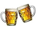 set de 2 jarras de cerveza de cristal duro de 520ml