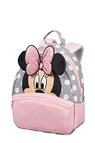 Samsonite Disney Ultimate 2.0 - Mochila Infantil, 7 l, Multicolor (Minnie Glitter), S (28.5 x 23.5 x 13.5 cm)