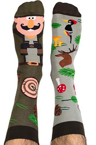Nanushki unisex lustige verrückte Motiv Socken Chester Forester Förster (40-43 EU, Chester Forester)