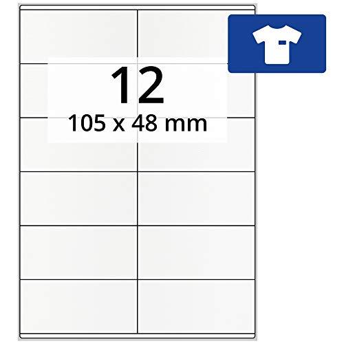 1200 Etiketten 105 X 48 mm Blatt weiß auf DIN A4