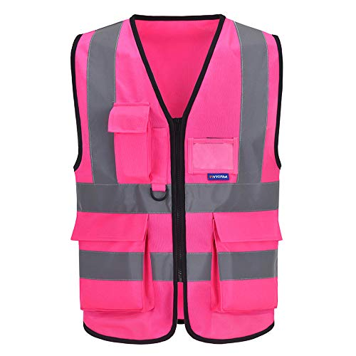 Chalecos de seguridad Alta Visibilidad Trabajo fluo (6XL-8XL, Rosa)