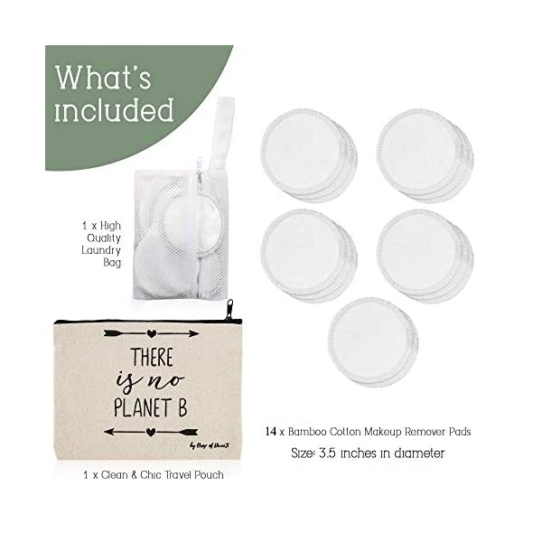 Beauty Shopping Bamboo Reusable Makeup Remover Pads – White, 14 Pack – Ethical Nourishing