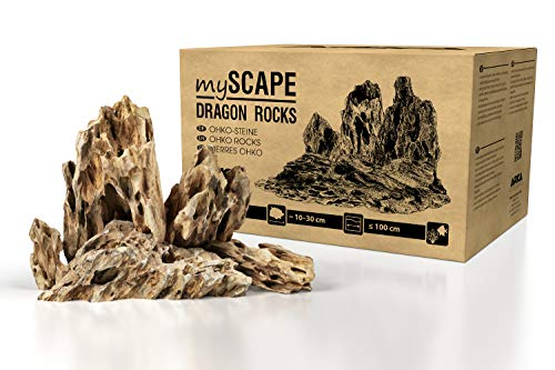 ARKA Aquatics myScape-Rocks Dragon – Pietra di drago – pietra naturale per acquascapes unici in ogni acquario d'acqua dolce e terrario (10 kg)