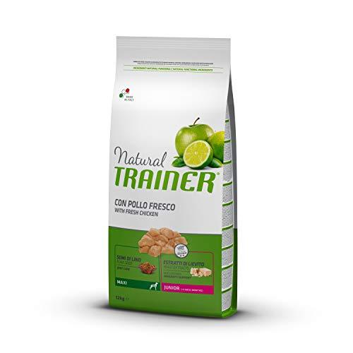 Natural Trainer - Cibo Secco per Cani Maxi Junior, Con Pollo Fresco, 12kg