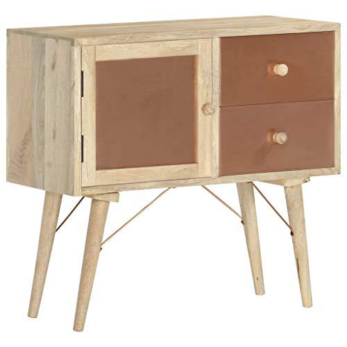 Anrichte Sideboard Mehrzweckschrank Highboard Schubladenkommode Flurschrank, für Diele, Wohnzimmer Esszimmer Diele, 80 x 35 x 75 cm Mango-Massivholz