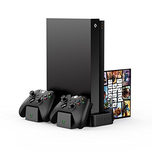 Venom Xbox One Vertical Charging Stand and Rechargeable Battery Twin Pack - Black (Xbox One X / Xbox One S) [Importación inglesa]