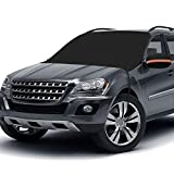 Windshield Snow Cover, Extra Large & 3-Layer Thick Fits Any Car Truck SUV Van, Straps & Magnets Double Fixed Design Windproof Outdoor Car Snow Covers, Keeps Ice & Snow Off