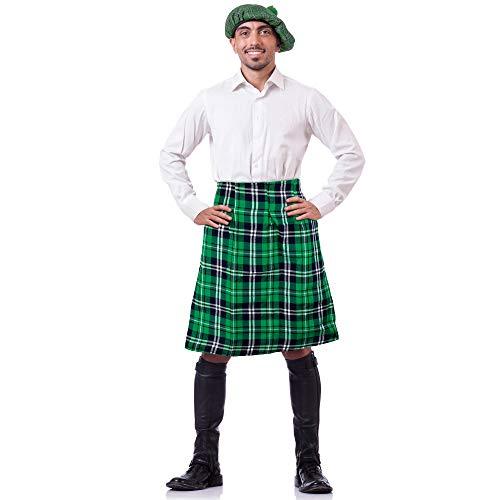 Skeleteen Irish Plaid Green Kilt - Scottish St Patrick