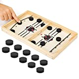 Fast Sling Puck Game, Slingshot Board Games Toy Hockey Table Desktop Game for Adults and Kids Chess Board Games Battle, 2 Player Board Games Small Size (13.8 in x 8.7 in)